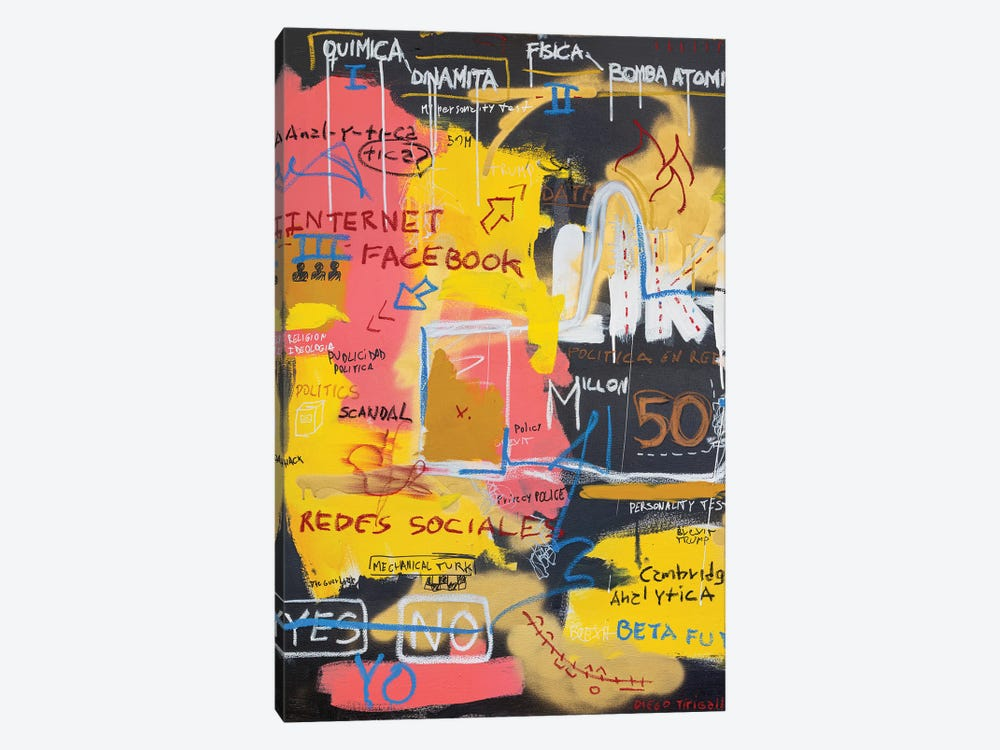 Code Is Social by Diego Tirigall 1-piece Canvas Print