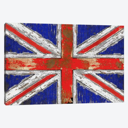 UK Vintage Wood Canvas Print #MXS31} by Diego Tirigall Canvas Wall Art