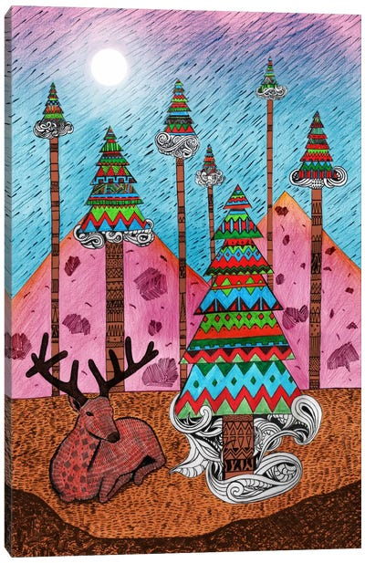 A Christmas Moment Canvas Art Print