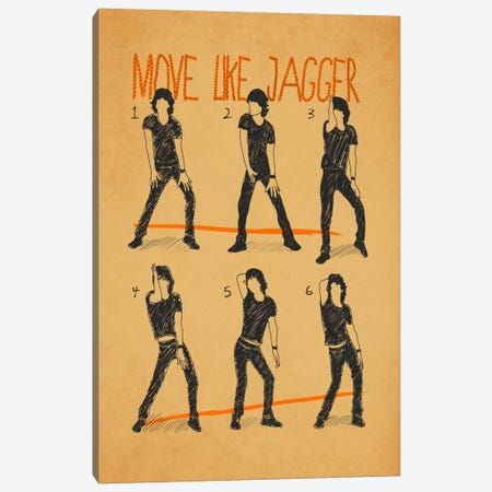 Move Like Jagger White Canvas Print #MXS41} by Diego Tirigall Canvas Print