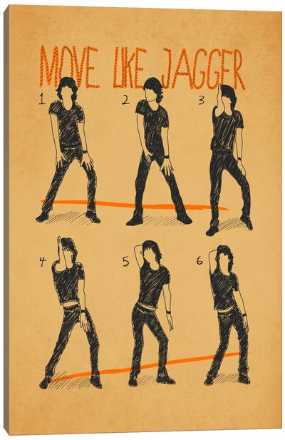 Move Like Jagger White Canvas Art Print