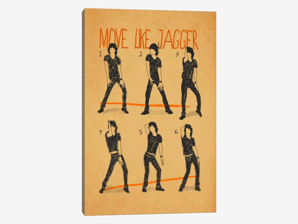 Move Like Jagger White by Diego Tirigall 1-piece Canvas Artwork