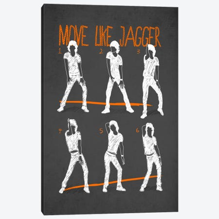Move Like Jagger Black Canvas Print #MXS42} by Diego Tirigall Canvas Print