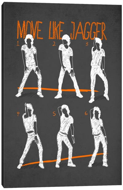 Move Like Jagger Black Canvas Art Print