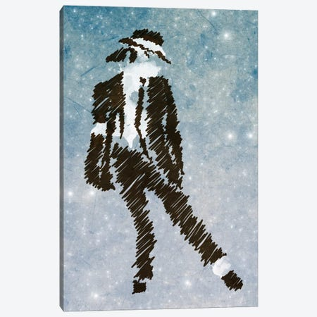 Michael Jackson Forever King of Pop Canvas Print #MXS43} by Diego Tirigall Canvas Art Print