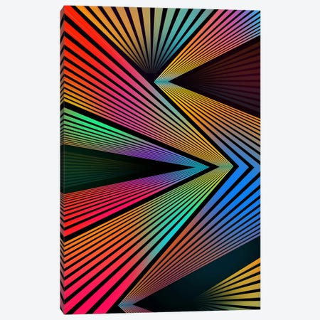 Crazy Ranibow Canvas Print #MXS50} by Diego Tirigall Canvas Wall Art