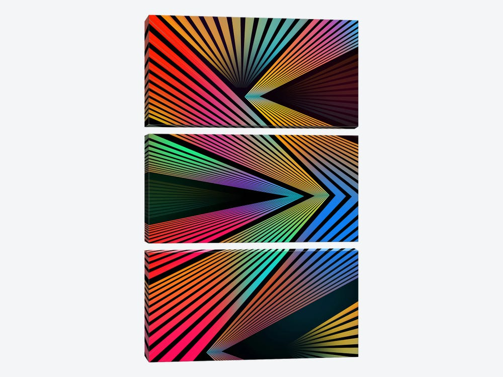 Crazy Ranibow by Diego Tirigall 3-piece Canvas Art