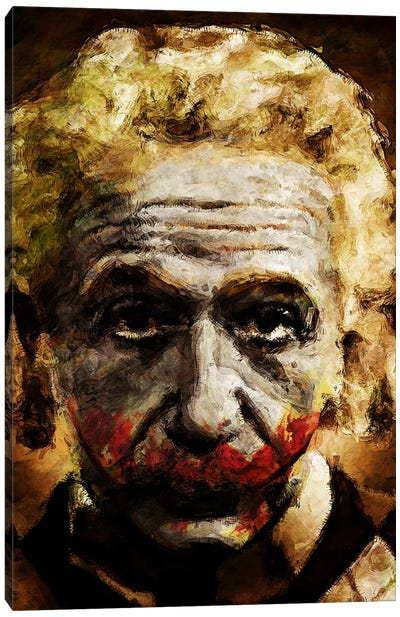Einstein The Joker Canvas Art Print