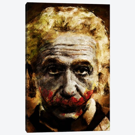 Einstein The Joker Canvas Print #MXS53} by Diego Tirigall Canvas Wall Art
