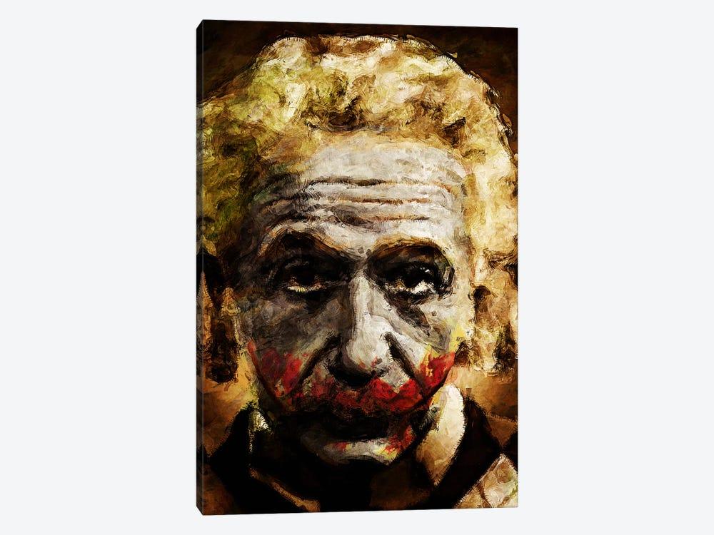 Einstein The Joker by Diego Tirigall 1-piece Canvas Print