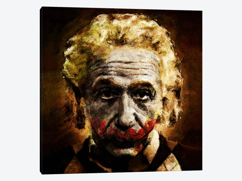 Einstein The Joker (Relatively Funny) by Diego Tirigall 1-piece Canvas Artwork