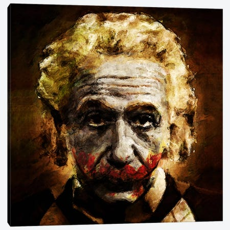 Einstein The Joker (Relatively Funny) Canvas Print #MXS54} by Diego Tirigall Art Print