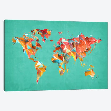 Geometric Map #3 Canvas Print #MXS56} by Diego Tirigall Art Print