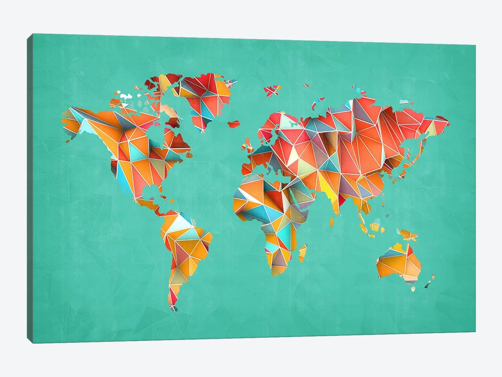 Geometric Map #3 by Diego Tirigall 1-piece Canvas Art