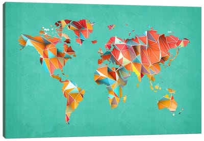 Geometric Map #3 Canvas Art Print