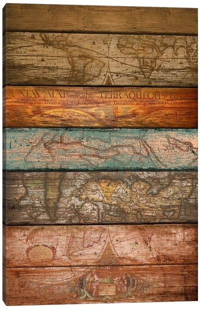 Mapas Canvas Art Print