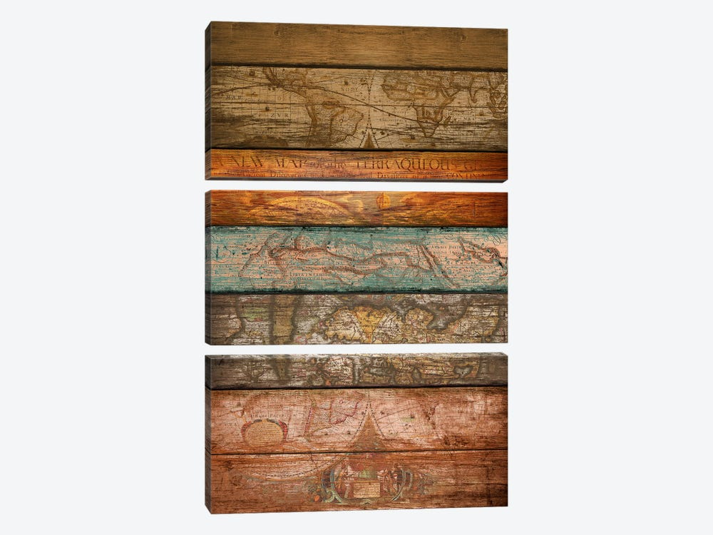 Mapas by Diego Tirigall 3-piece Canvas Art