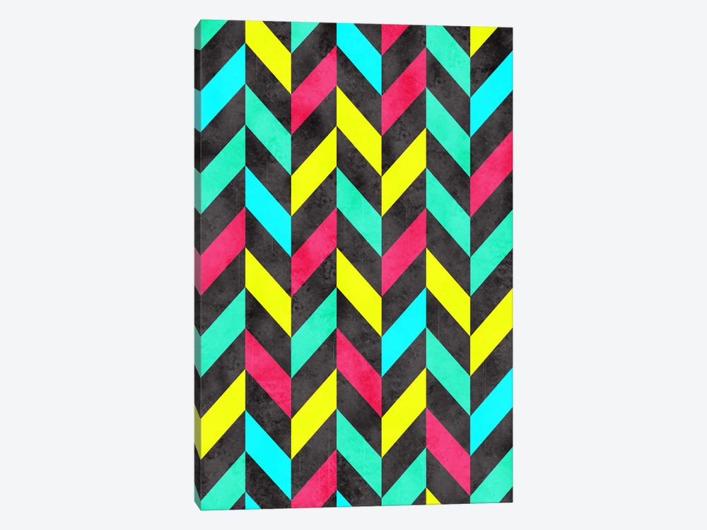 Psychedelic Chevron by Diego Tirigall 1-piece Canvas Artwork