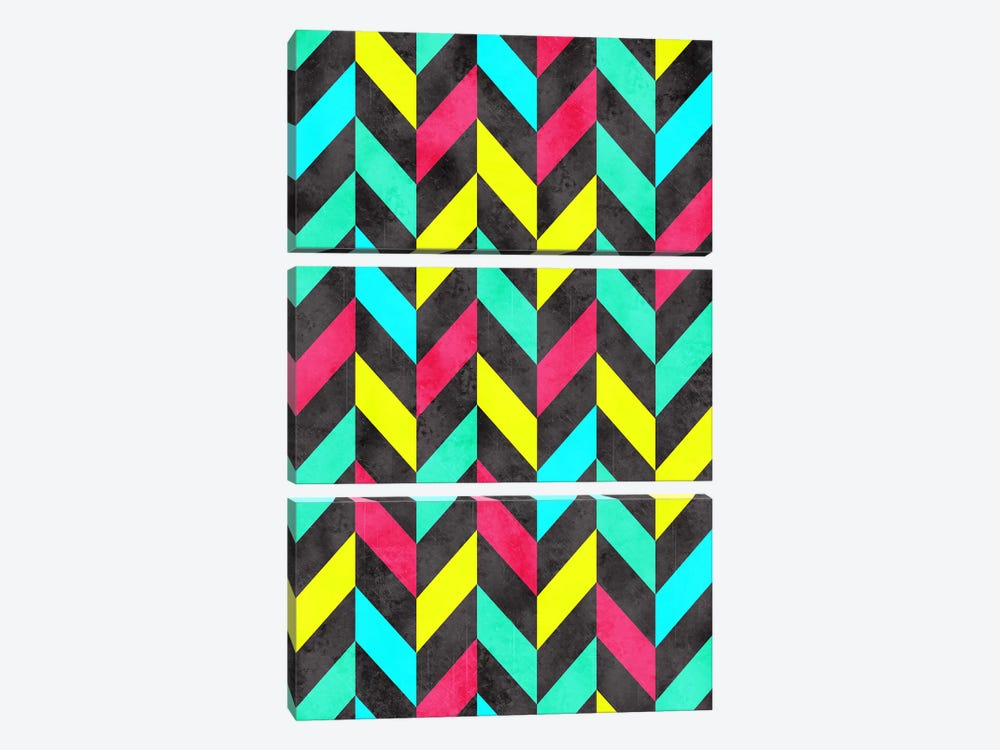 Psychedelic Chevron by Diego Tirigall 3-piece Canvas Wall Art