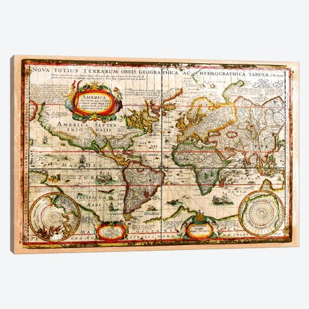 Vintage Map Canvas Print #MXS74} by Diego Tirigall Art Print