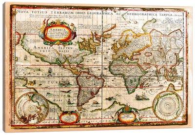 Vintage Map Canvas Print #MXS74