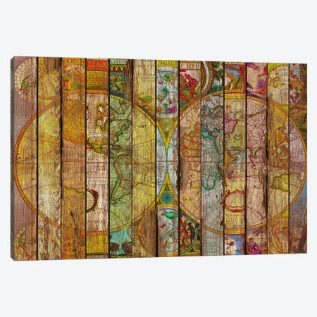 Around the World in Thirteen Maps Canvas Print #MXS79} by Diego Tirigall Canvas Wall Art