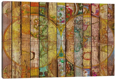 Around the World in Thirteen Maps Canvas Art Print
