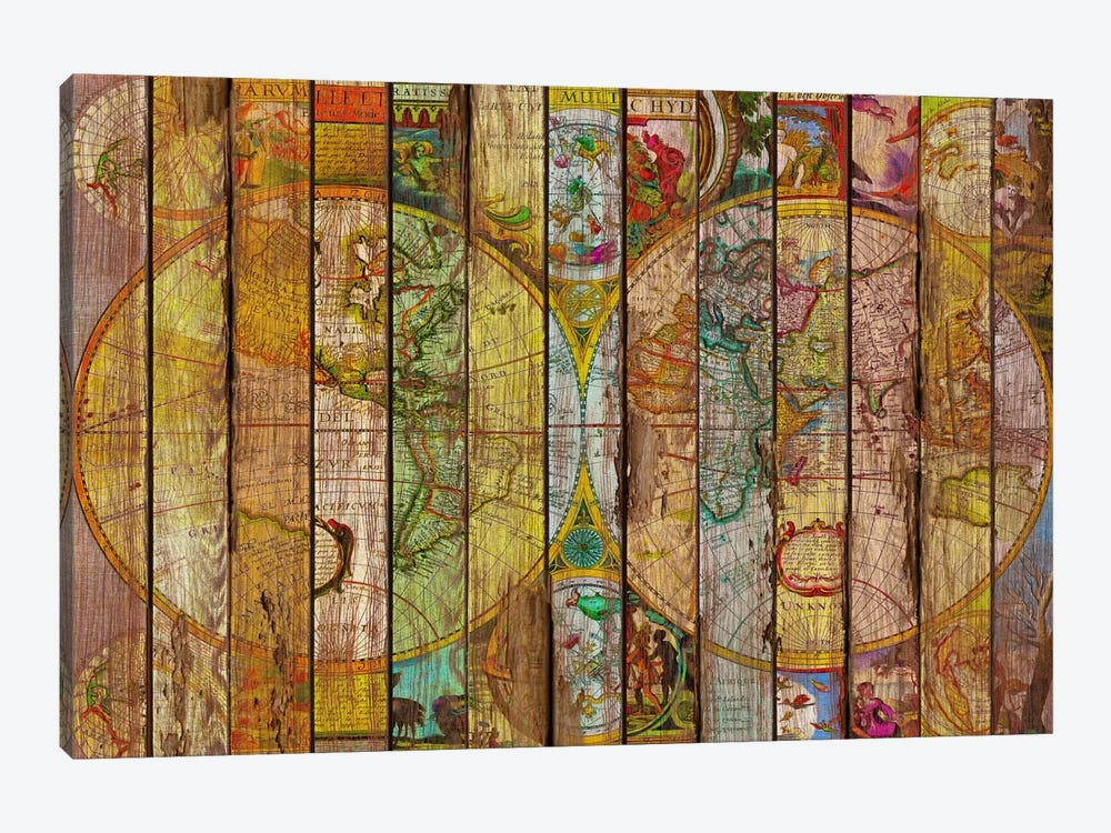 Around the World in Thirteen Maps by Diego Tirigall 1-piece Art Print