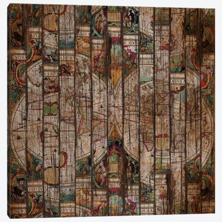 Encrypted Map A Canvas Print #MXS80} by Diego Tirigall Canvas Print