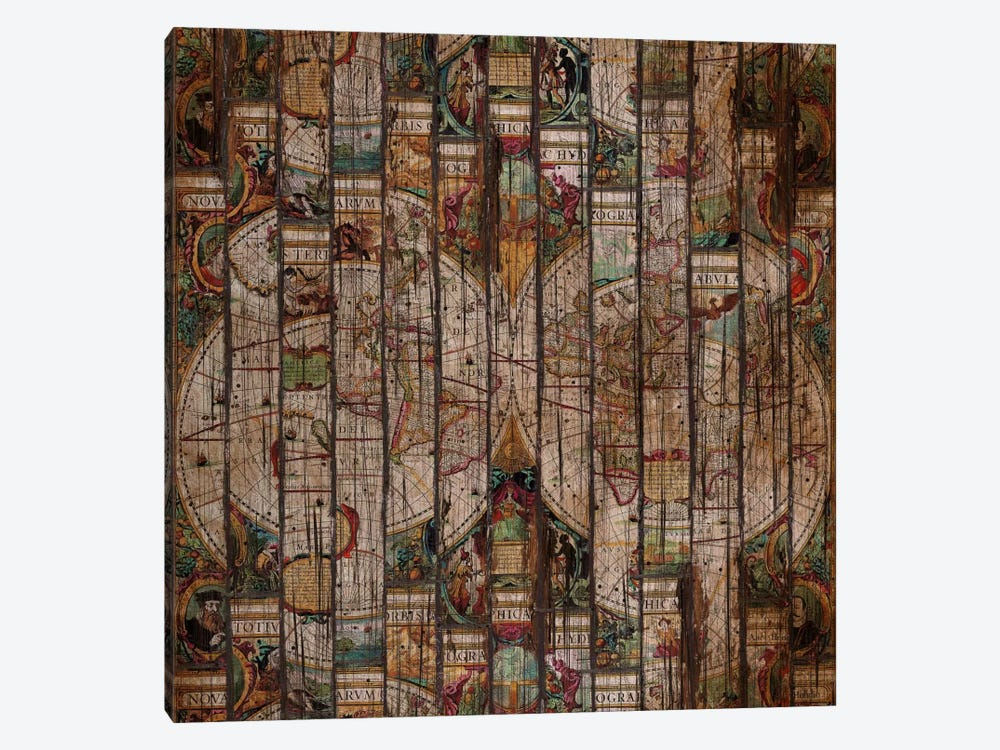 Encrypted Map A by Diego Tirigall 1-piece Art Print