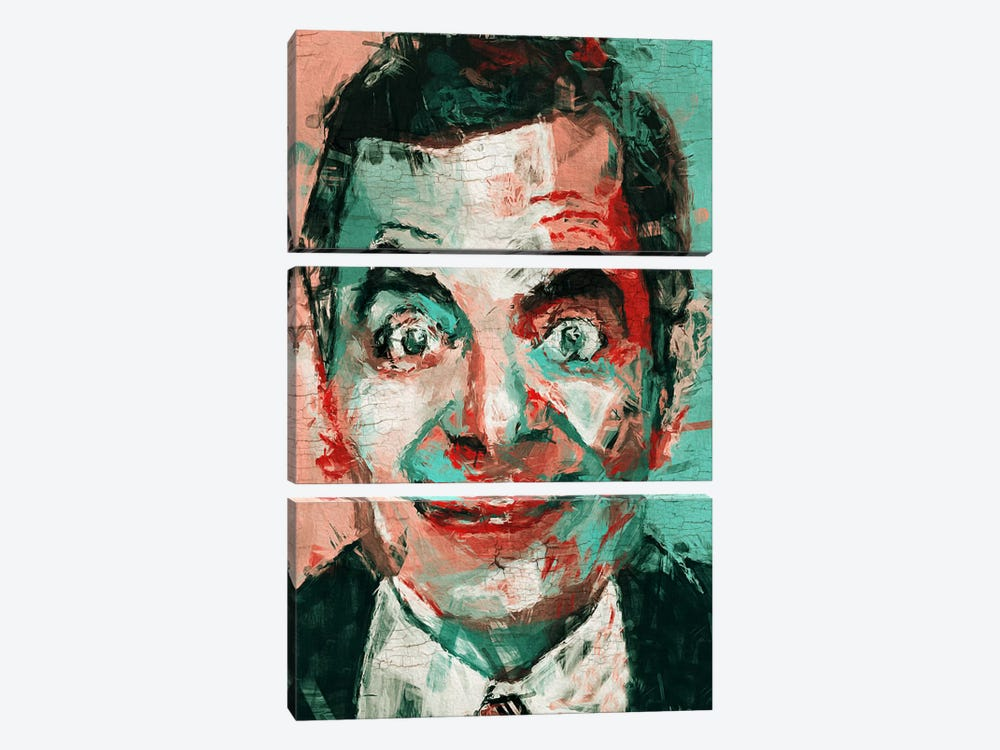 Mr Bean by Diego Tirigall 3-piece Canvas Artwork
