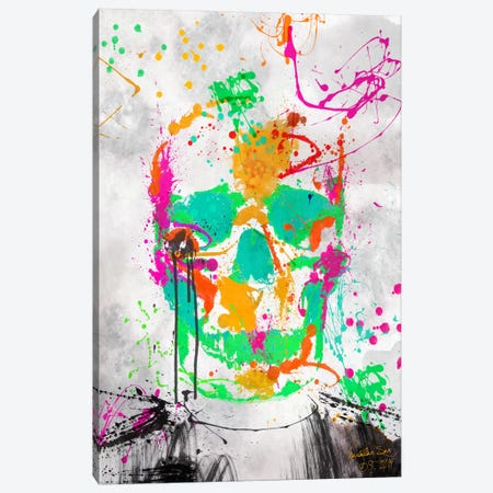 Dead Color Skull #2 Canvas Print #MXS91} by Diego Tirigall Canvas Artwork