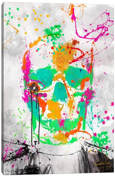 Dead Color Skull #2 Canvas Art Print