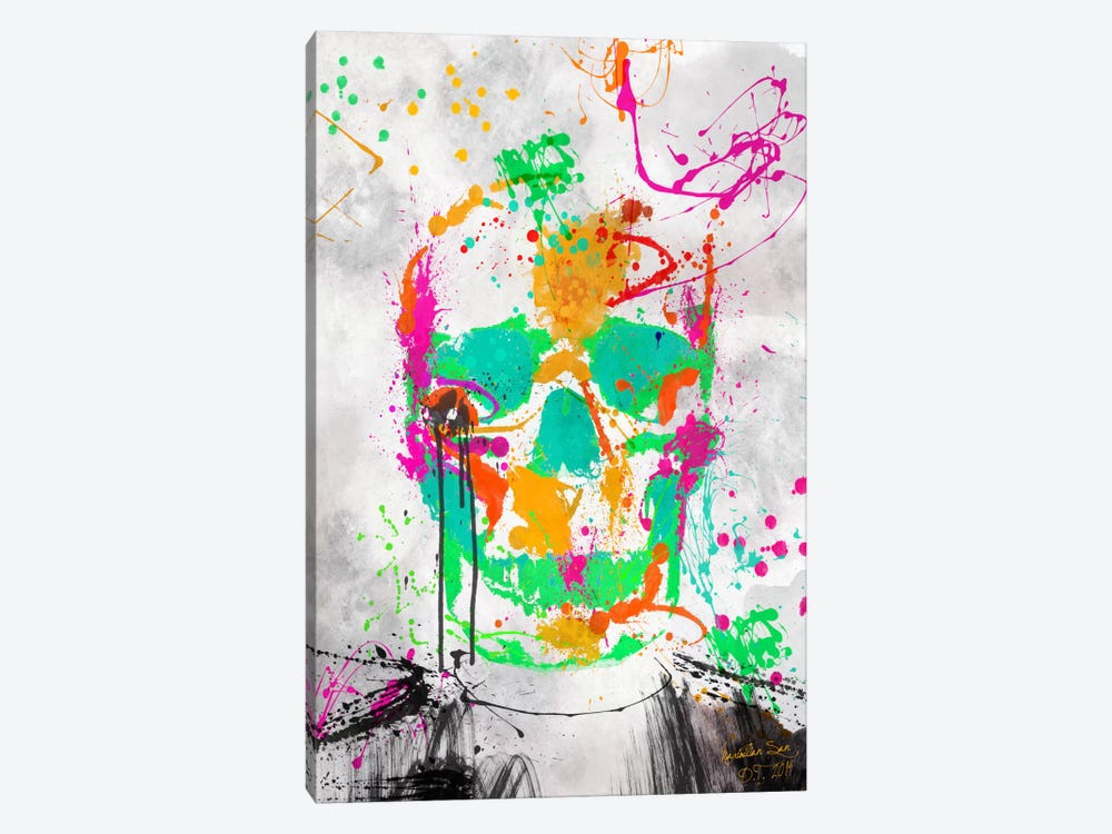 Dead Color Skull #2 by Diego Tirigall 1-piece Canvas Art Print