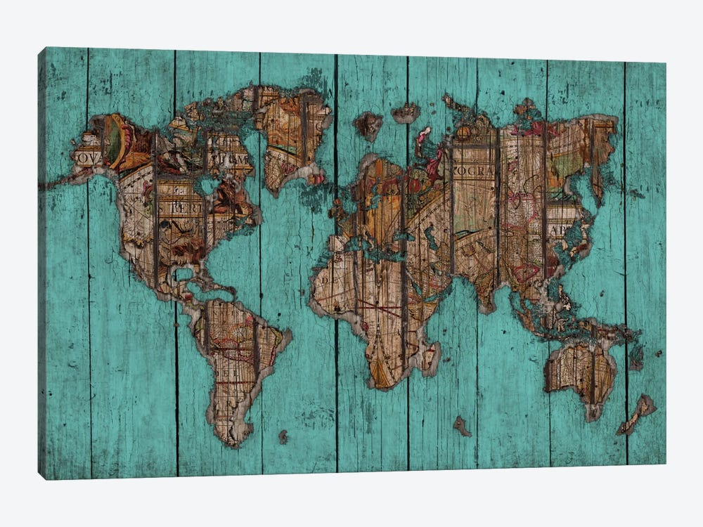 Wood Map #2 by Diego Tirigall 1-piece Art Print