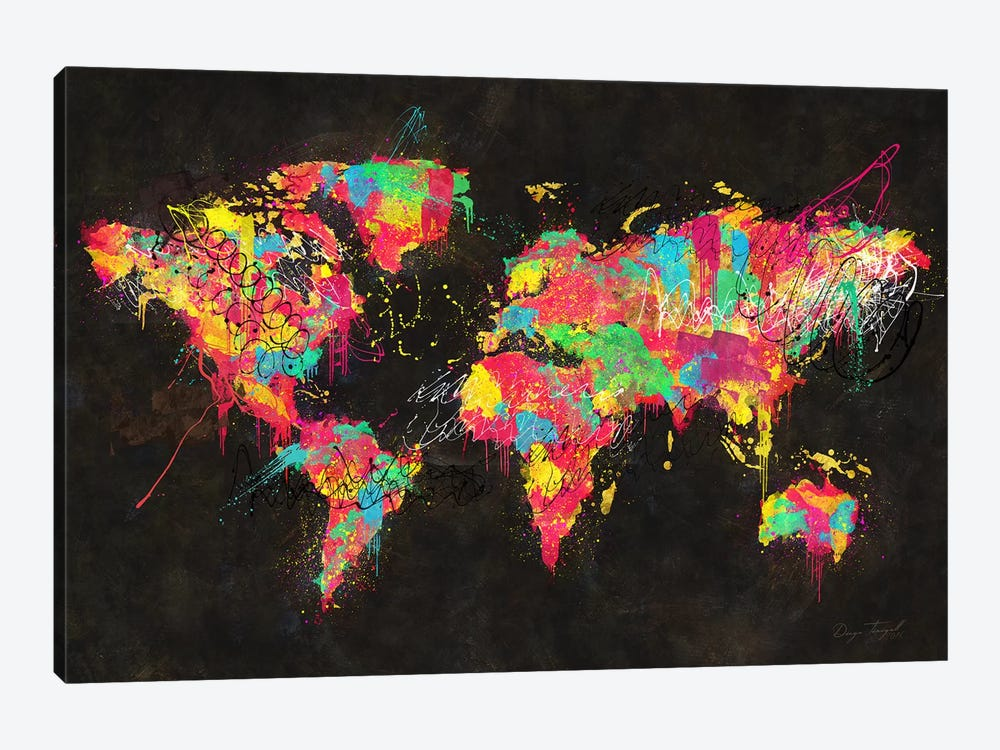 Psychedelic Continents Canvas Art By Diego Tirigall Icanvas