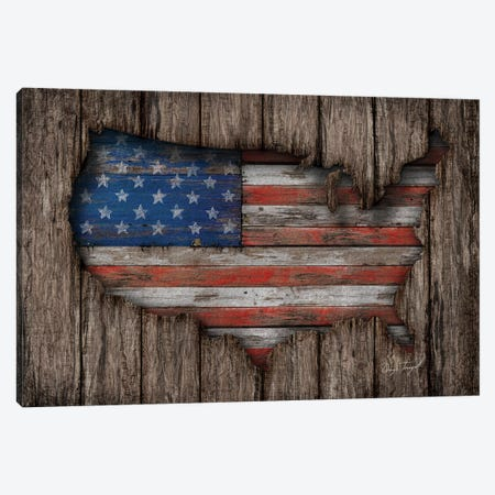 American Wood Flag Canvas Print #MXS99} by Diego Tirigall Canvas Wall Art