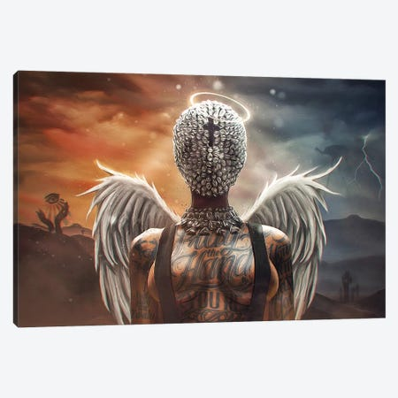 White Templar Canvas Print #MXT48} by Max Twain Canvas Artwork