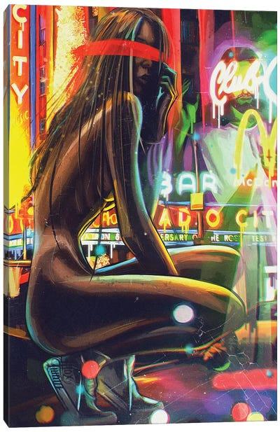 Neon Templar Canvas Art Print