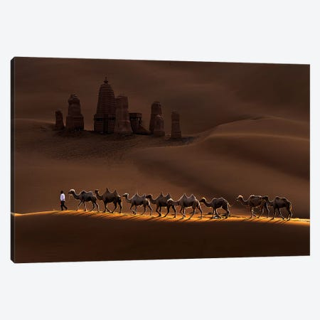 Castle And Camels Canvas Print #MXU1} by Mei Xu Canvas Art