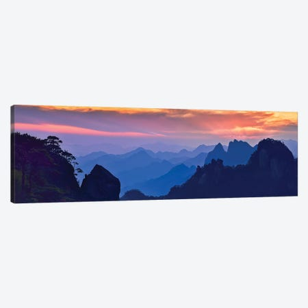 Sanqing Mountain Sunset Canvas Print #MXU3} by Mei Xu Canvas Artwork