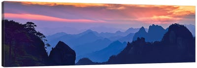 Sanqing Mountain Sunset Canvas Art Print