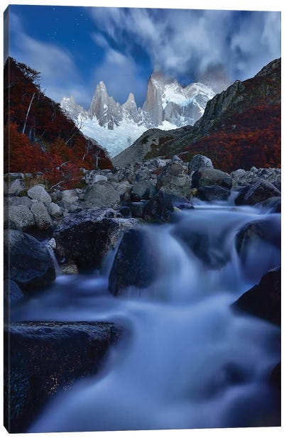 A Night In Patagonia Canvas Art Print