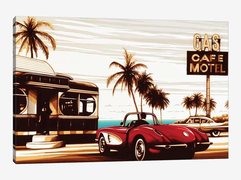 Diner By The Sea by Max Zorn 1-piece Canvas Art Print