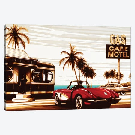 Diner By The Sea Canvas Print #MXZ11} by Max Zorn Art Print