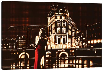 My Night, My Town Canvas Art Print