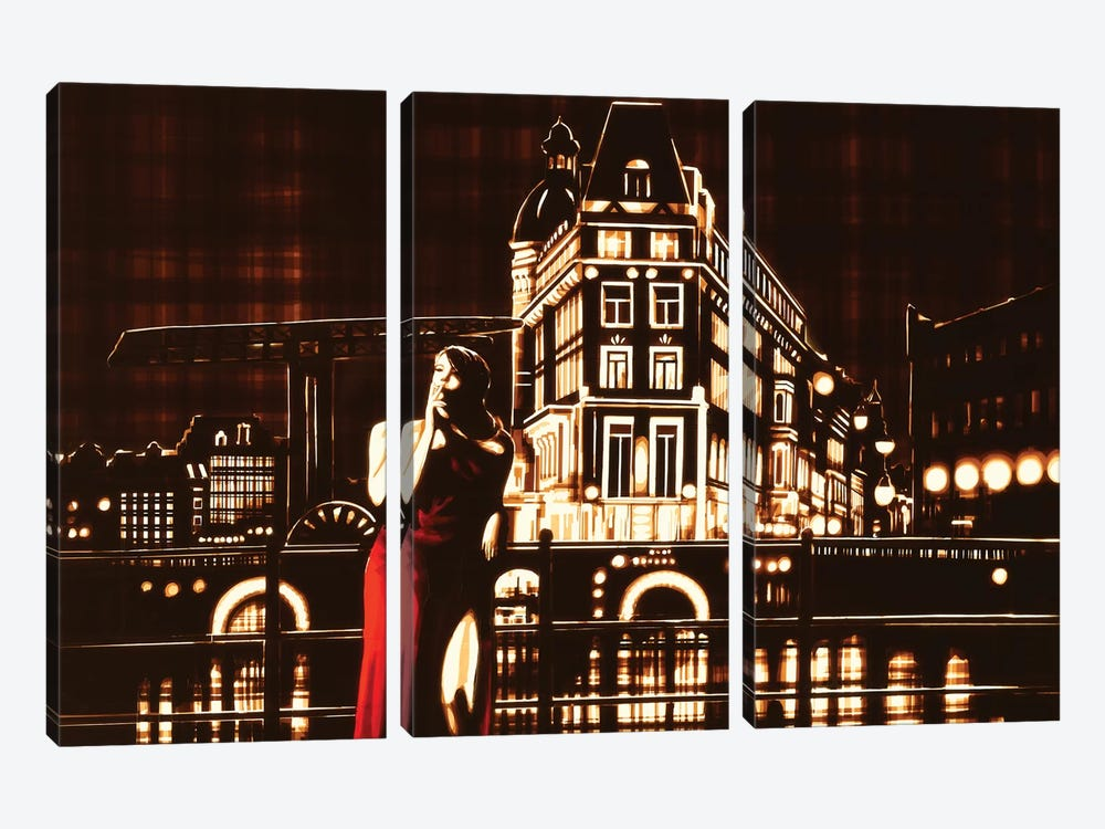 My Night, My Town by Max Zorn 3-piece Canvas Wall Art
