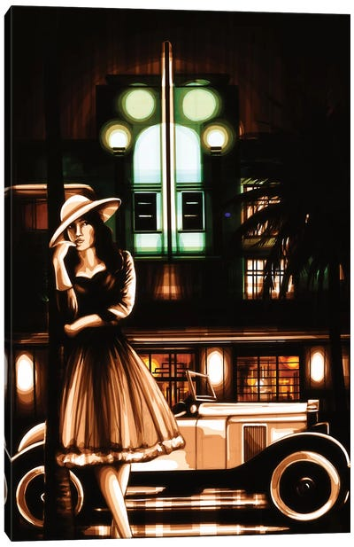 South Beach Nights Canvas Art Print