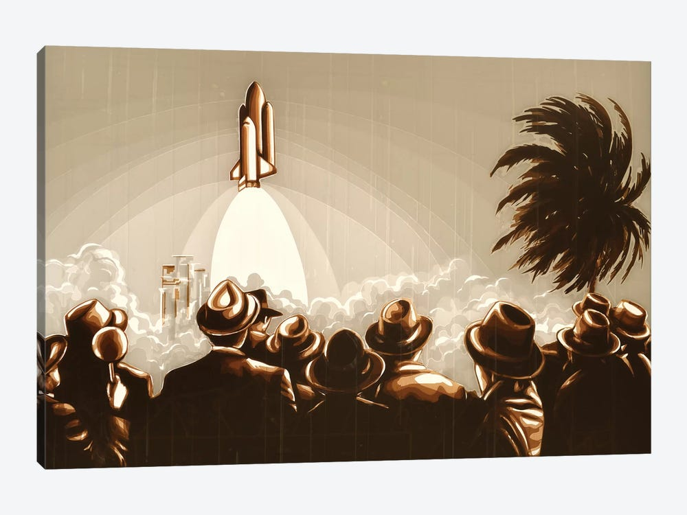Space Shuttle by Max Zorn 1-piece Canvas Art Print
