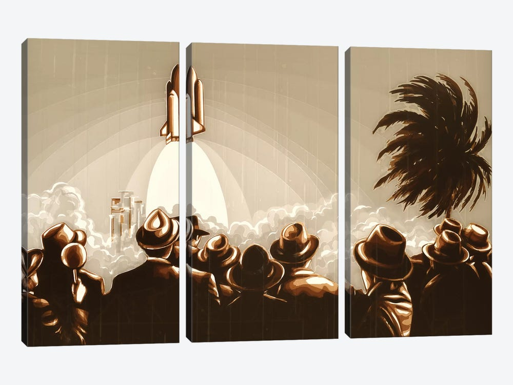 Space Shuttle by Max Zorn 3-piece Canvas Art Print